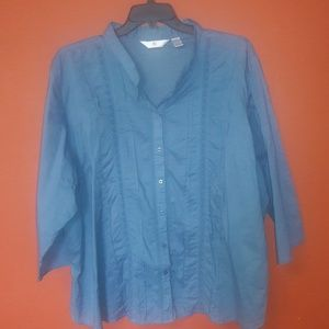 ALC woman blue shirt